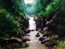 Nature Watercolor Art Painting title Untitled 2 by artist Azharuuddin Inamdar