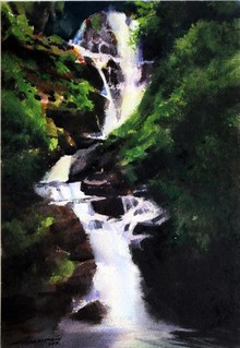 Nature Watercolor Art Painting title Untitled 8 by artist Azharuuddin Inamdar