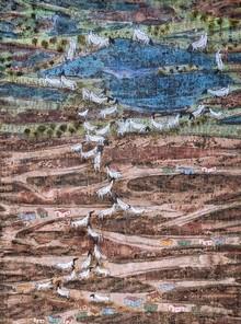 Landscape Mixed-media Art Painting title Creving Food by artist Pratik Raut