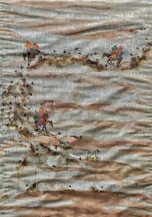 Landscape Mixed-media Art Painting title Flowing World by artist Pratik Raut