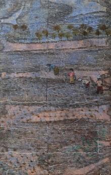 Landscape Mixed-media Art Painting title Rootin by artist Pratik Raut