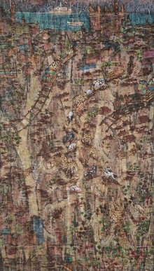 Landscape Mixed-media Art Painting title Save Arey by artist Pratik Raut