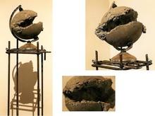 Mixedmedia Sculpture titled 'The Globe' by artist Abhishek Salve