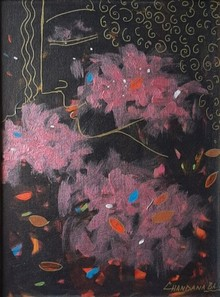 Nature Acrylic Art Painting title Blissful by artist Chandana Bhattacharjee