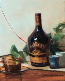 Still-life Oil Art Painting title Baileys by artist Amit Srivastava
