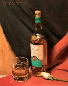 Still-life Oil Art Painting title Single At The Top by artist Amit Srivastava