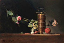 Still-life Oil Art Painting title The Lunch Box by artist Amit Srivastava