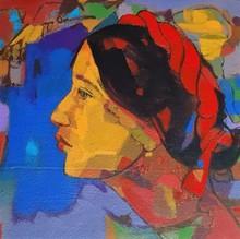 Figurative Acrylic Art Painting title Beauty Of Village by artist Avinash Mokashe