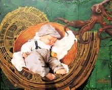 Figurative Acrylic Art Painting title Orphan by artist Kriti K.C. Saxena