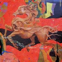 Figurative Acrylic Art Painting title Unmukhta by artist Kriti K.C. Saxena