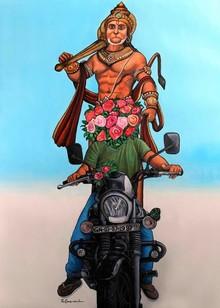 Religious Acrylic Art Painting title Thank You God by artist GanguNaidu Pv
