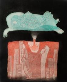 Kumar Misal | Mumbai Local Printmaking by artist Kumar Misal | Printmaking Art | ArtZolo.com