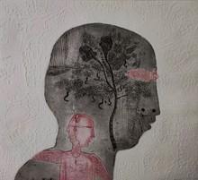Kumar Misal | My Self Printmaking by artist Kumar Misal | Printmaking Art | ArtZolo.com