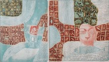 Kumar Misal | My Village 3 Printmaking by artist Kumar Misal | Printmaking Art | ArtZolo.com