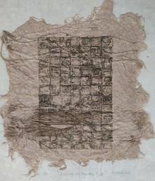 art, printmaking, banana pulp, abstract