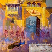 Cityscape Acrylic Art Painting title Heritage 3 by artist Sayajirao Nangare