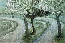 Nature Mixed-media Art Painting title Journey Through The Dream by artist Subhamita Sarkar