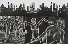 Sushanta Guha | Metro Light Printmaking by artist Sushanta Guha | Printmaking Art | ArtZolo.com