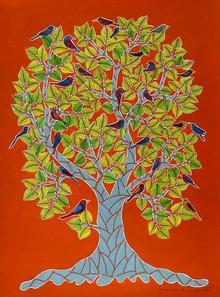 Nature Acrylic Art Painting title Untitled 5 by artist Venkat Shyam
