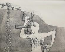 Sunil Darji | Devine Garland Printmaking by artist Sunil Darji | Printmaking Art | ArtZolo.com
