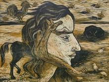 art, printmaking, paper, woodcut, contemporary