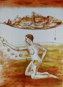 Sunil Darji | Untitled 2 Printmaking by artist Sunil Darji | Printmaking Art | ArtZolo.com