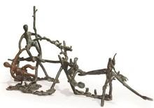 Bronze Sculpture titled 'Rhythm 10' by artist Mrinal Kanti