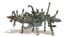 Bronze Sculpture titled 'Rhythm 7' by artist Mrinal Kanti