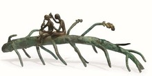 Bronze Sculpture titled 'Rhythm 9' by artist Mrinal Kanti