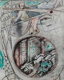 contemporary Mixed-media Art Painting title Untitled 1 by artist C Douglas
