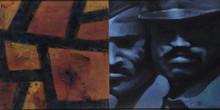 Cityscape Acrylic Art Painting title Cityscape (Diptych) by artist Baiju Parthan