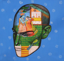 Religious Acrylic Art Painting title Lover by artist Vijay Shelar