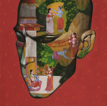 Religious Acrylic Art Painting title Romance In Monsoon by artist Vijay Shelar