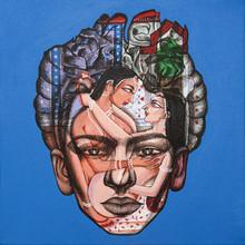 Portrait Acrylic Art Painting title Tribute To Frida Kahlo 1 by artist Vijay Shelar