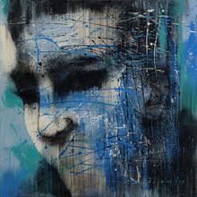 Portrait Acrylic Art Painting title Untitled 11 by artist Vijay Shelar