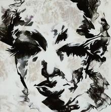 Portrait Acrylic Art Painting title Untitled 15 by artist Vijay Shelar
