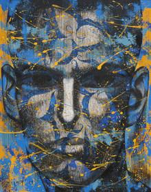 Portrait Acrylic Art Painting title Untitled 22 by artist Vijay Shelar