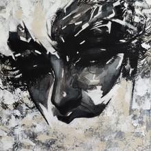 Portrait Acrylic Art Painting title Untitled 3 by artist Vijay Shelar