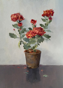 Still-life Oil Art Painting title Flowers 2 by artist Paresh Thukrul