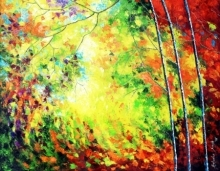 Colours Of Autumn Replica | Painting by artist Bahadur Singh | oil | Canvas