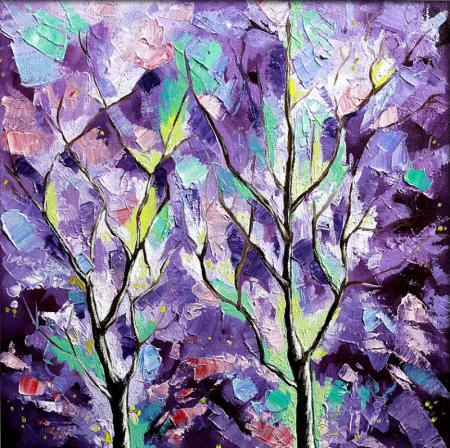 Purple Color Art