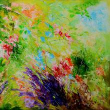 Nature Oil Art Painting title 'Nature Colors II' by artist Bahadur Singh