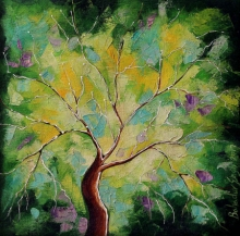 Nature Oil Art Painting title 'Nature Small 4' by artist Bahadur Singh