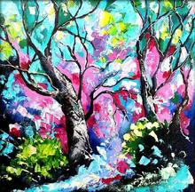 Nature Oil Art Painting title Seasons 130 by artist Bahadur Singh