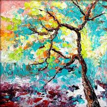 Nature Oil Art Painting title Seasons 132 by artist Bahadur Singh