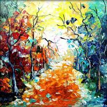 Nature Oil Art Painting title Seasons 133 by artist Bahadur Singh