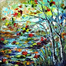 Nature Oil Art Painting title Seasons 135 by artist Bahadur Singh