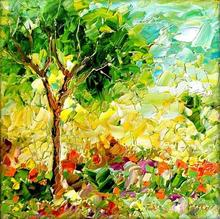 Nature Oil Art Painting title Seasons 140 by artist Bahadur Singh