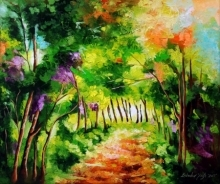 Nature Oil Art Painting title 'The Path Through Change 3' by artist Bahadur Singh