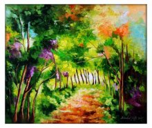 Nature Oil Art Painting title 'The Path Through Change III' by artist Bahadur Singh